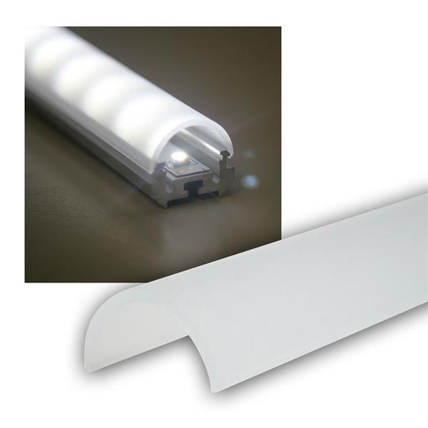 1m Abdeckung für Aluminium-Rund-Eckprofil OPAL