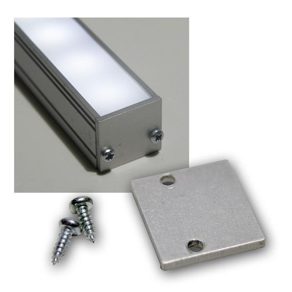 End-Abschlußplatte für Aluminium-U-Profil flach