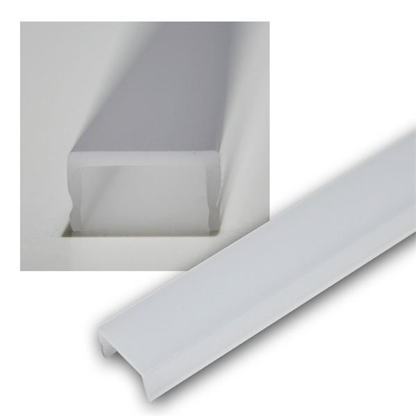 1m Abdeckung für Aluminium-Profil OPAL matt