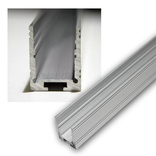1m aluminium u profil hoch f led stripes eloxiert. Black Bedroom Furniture Sets. Home Design Ideas