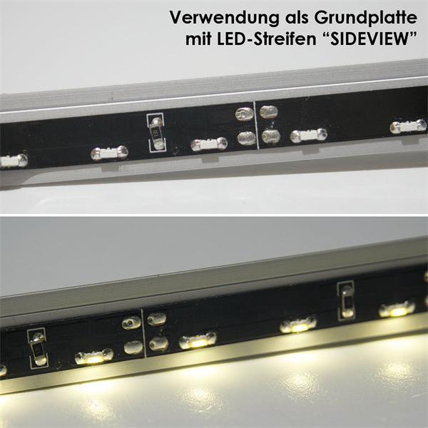 Aluminium Grundplatte für Alu-Profile