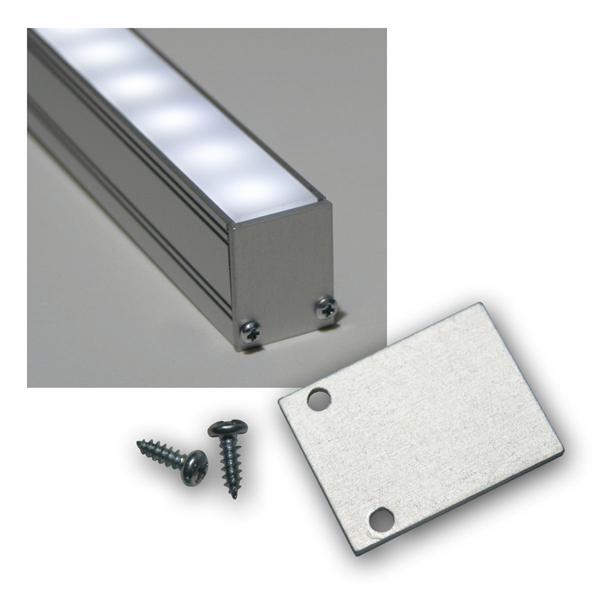 End-Abschlußplatte für Aluminium-U-Profil hoch