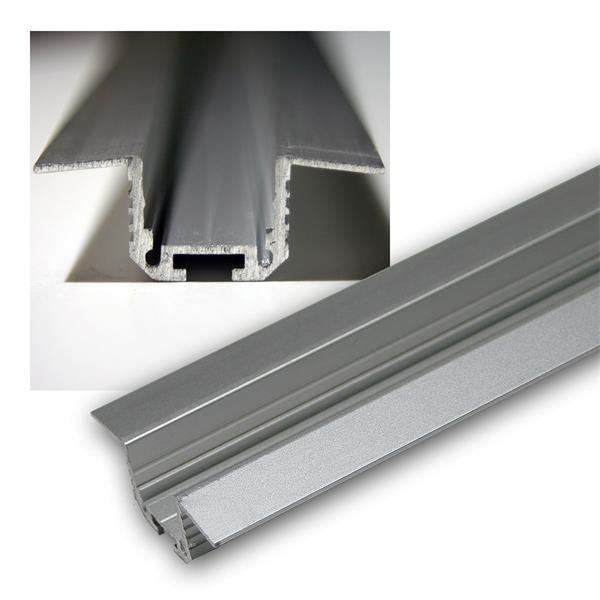 1m Aluminium-T-Eckprofil für LED-Stripes, eloxiert
