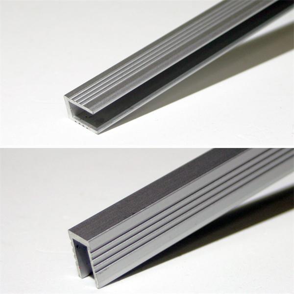 1m langes Alu-Profil für Glasboden oder Wand