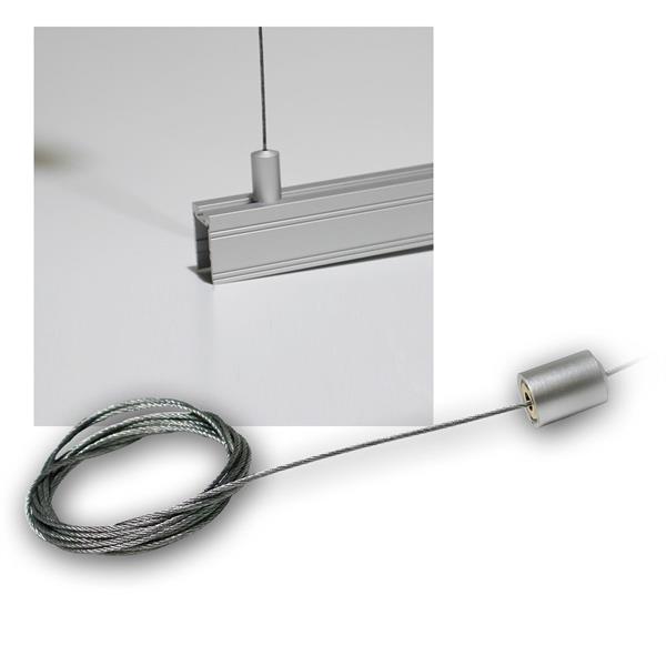 Stahlseilabhängung für Alu Profile (siehe Beschr)