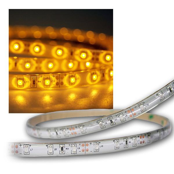 5m Flex SMD Stripe LED IP65 yellow 12V / PCB-weiß
