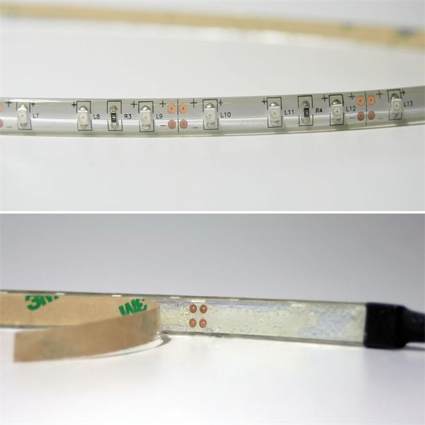 LED Strip ist wassergeschützt und in einem Silikonmantel vergossen