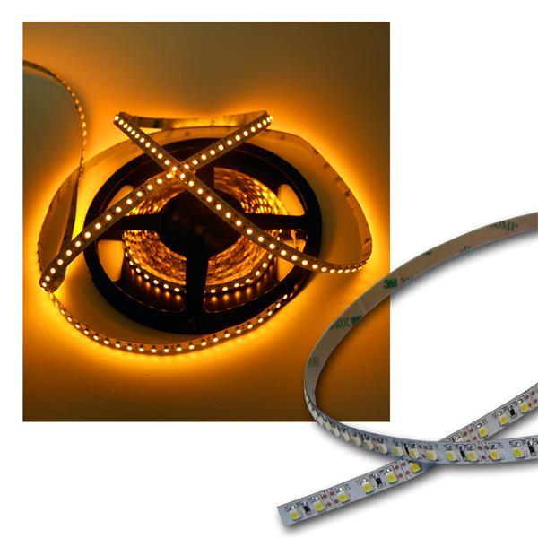 120cm FLEX SMD Streifen 144 LEDs GELB / PCB-weiß