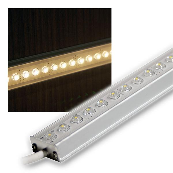 Aluminium LED Lichtleiste warm-weiß 25cm 12V DC DESIGN