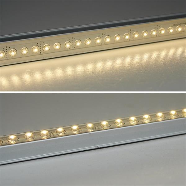 LED Alu Lichtleiste dimmbar IP65 mit 54x festvergossenen 5mm LEDs, sehr hell leuchtend