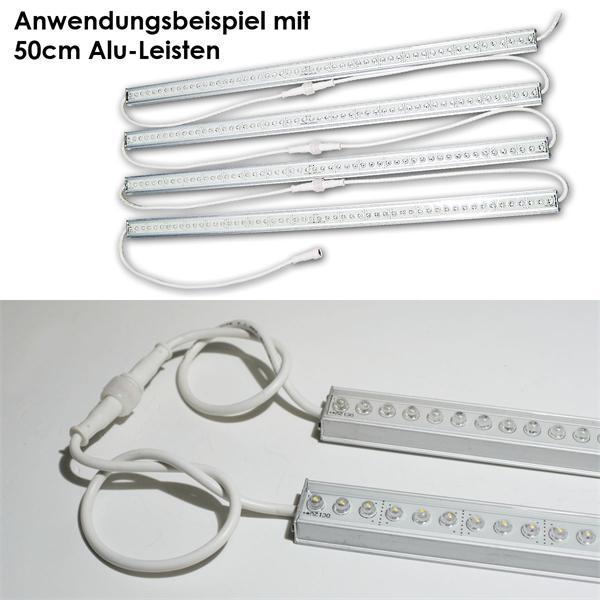 Lichtleiste dimmbar hier als Beispiel mit 4 Leisten hintereinander (Trafo anpassen!)
