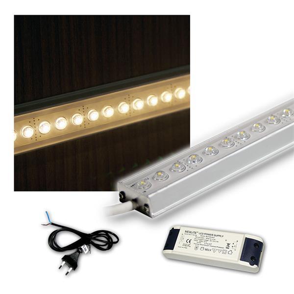 SET 4x100cm LED Alu-Leiste mit Zubehör WARM-WEISS