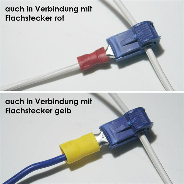 Kunststoff-Abzweigverbinder, spannungsfest bis ca. 600V