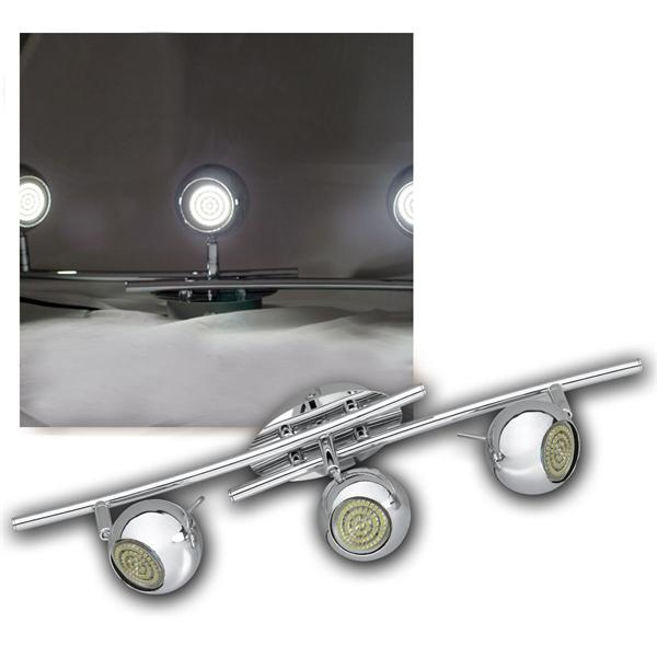 LED DESIGN Leuchte 3-flg, 60er GU10 SMDs kw, CHROM
