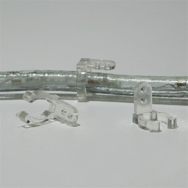 Halteclips für runde LED Lichtbänder zur einfachen Montage