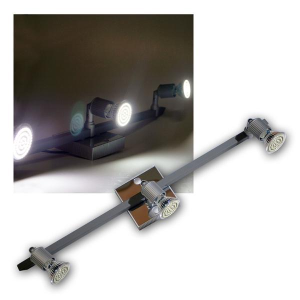 LED Leuchte Montana 3x 60er SMDs kw Alu/Chrom