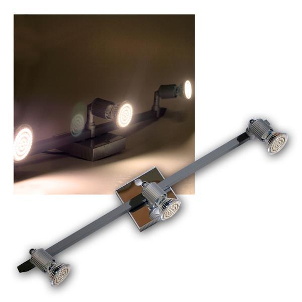 LED Leuchte Montana 3x 60er SMDs ww Alu/Chrom
