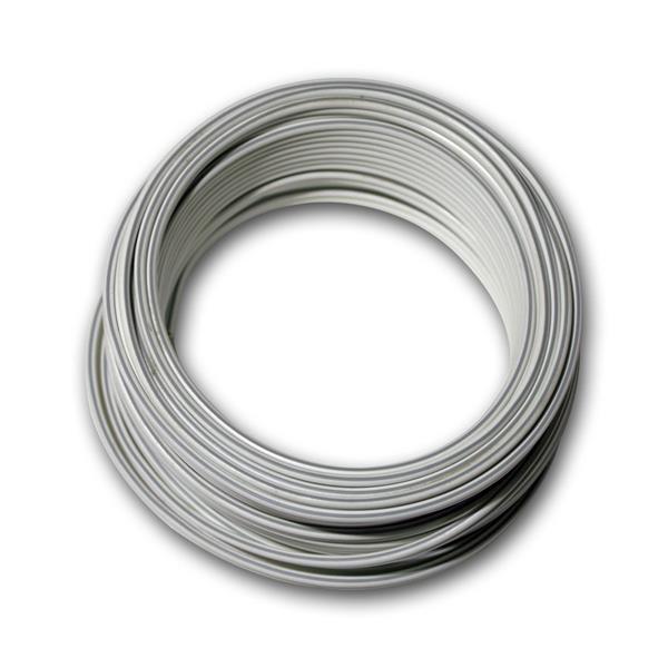 10m Zwillingslitze 2x 0,75mm² weiß/weiß-grau
