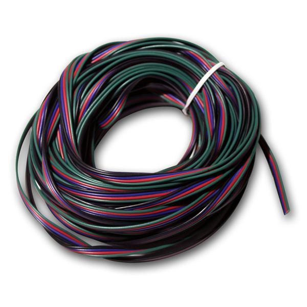 20m Ring Litze 4-adrig für RGB LED, 0,14mm², Kabel