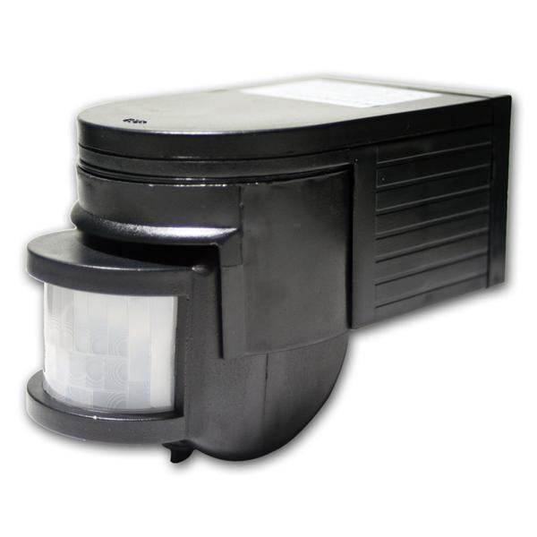 Bewegungsmelder 180°, schwarz, LED geeignet, IP44