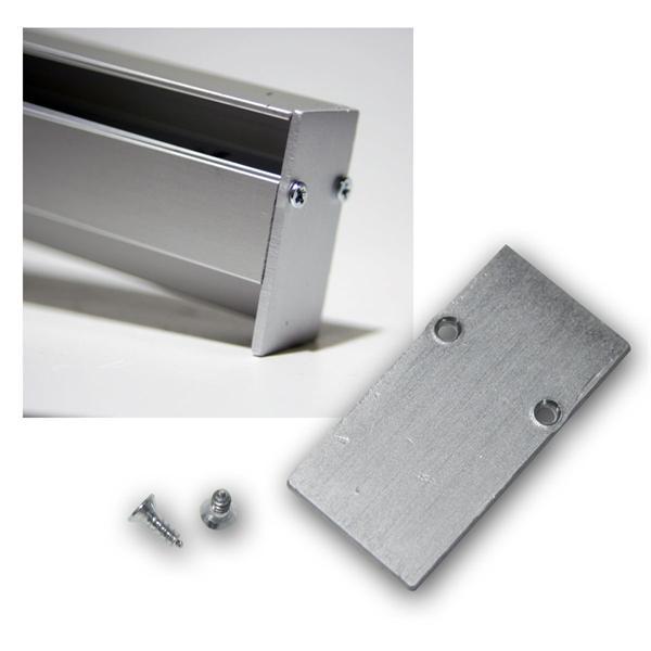 """End-Abschlußplatte für Aluminium-Profil """"Blende"""""""