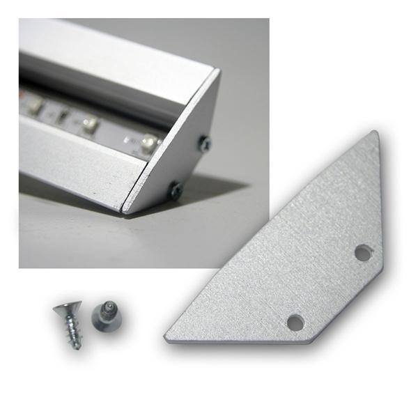 End-Abschlußplatte für Aluminium-T-Eckprofil