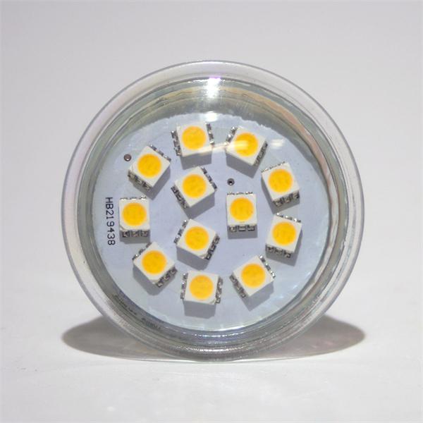 LED Leuchtmittel GU10 in Halogenoptik mit 12x modernen lichtstarken 5050 SMD LEDs