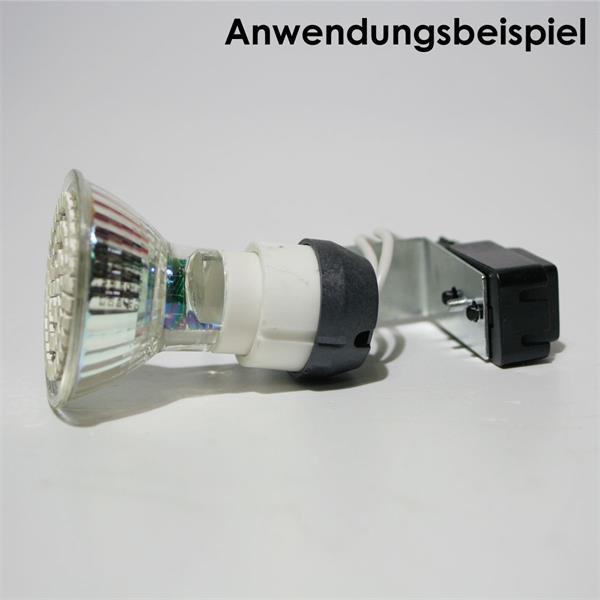 Keramikfassung für Leuchtmittel mit GU10 Stecksockel mit Abstandhalter