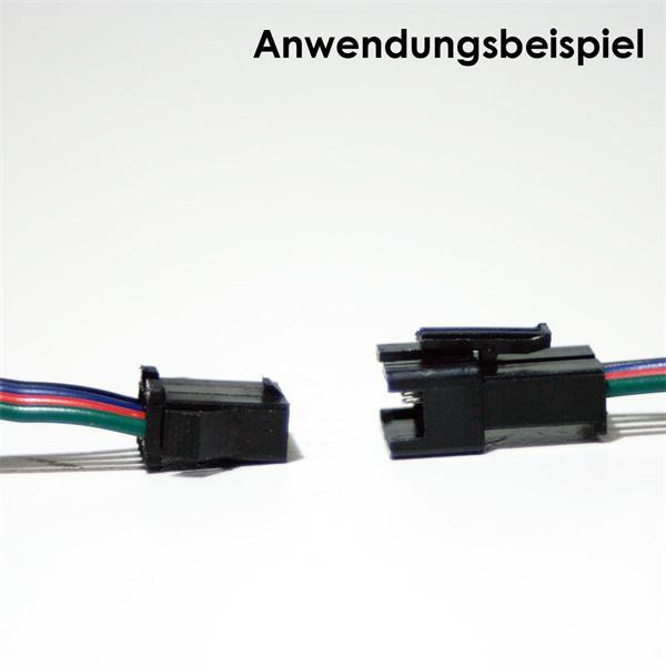 Kabel mit Stecker zum einfachen Anschließen von LED Streifen