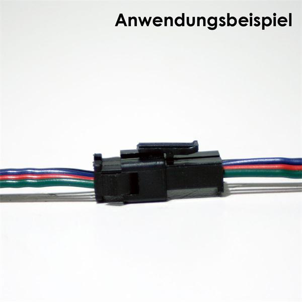 formschlüssige Verbindung zwischen Stecker und Buchse