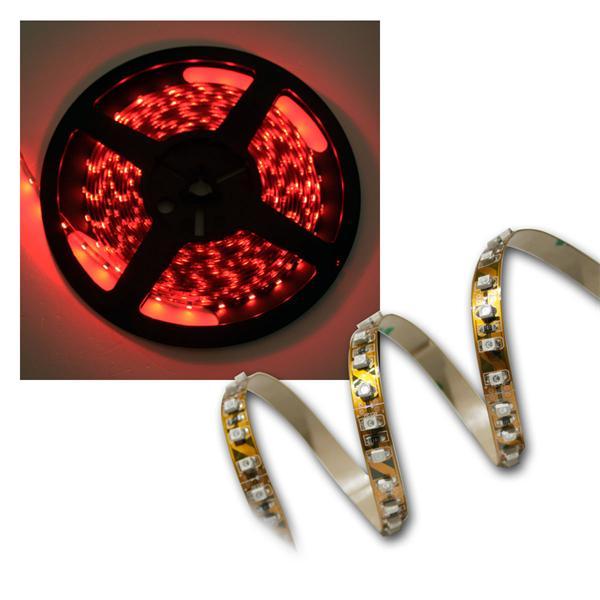 120cm FLEX SMD Streifen 144 LEDs rot BRAUN-PCB