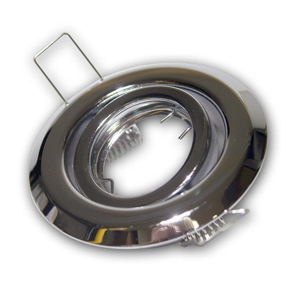 Lampen Einbaurahmen chrom, schwenkbar, MR11, 12V