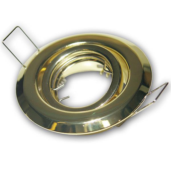 Lampen Einbaurahmen Messing/Gold, schwenkbar, MR11