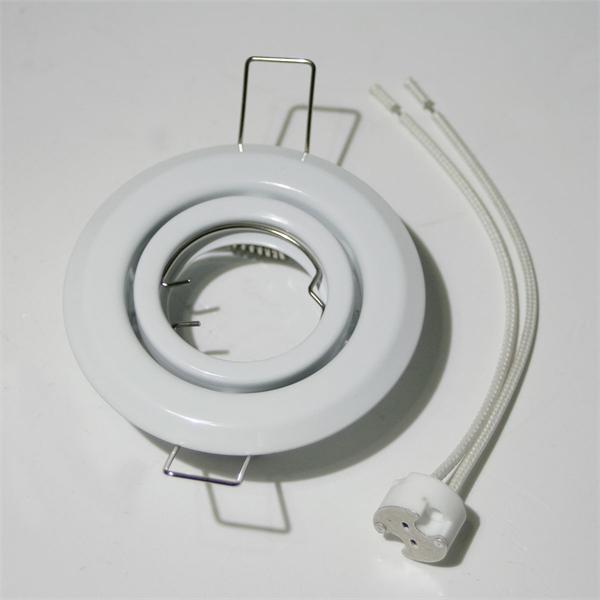 Einbaufassung inklusive Sockel GX 5,3 mit Anschlusskabel