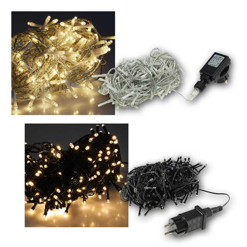 Outdoor light chain | IP44 | 230V | warm white | 40-600LEDs