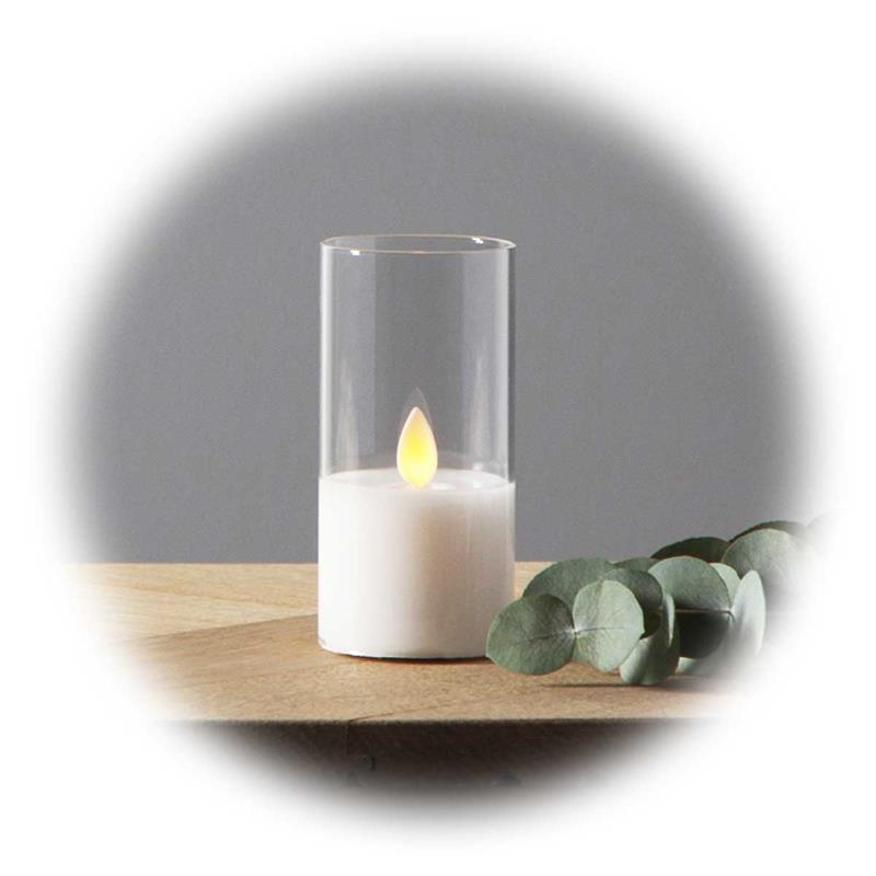 LED windlight M-TWINKLE | LED decorative candle with timer