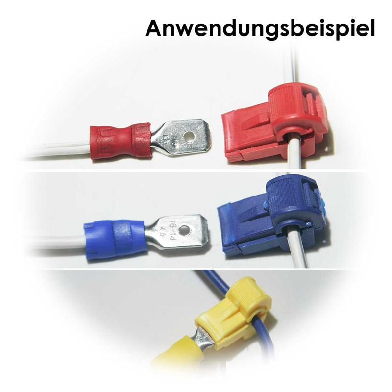 Abzweigverbinder für Kabelschuhe | Stromdiebe, rot/blau/gelb