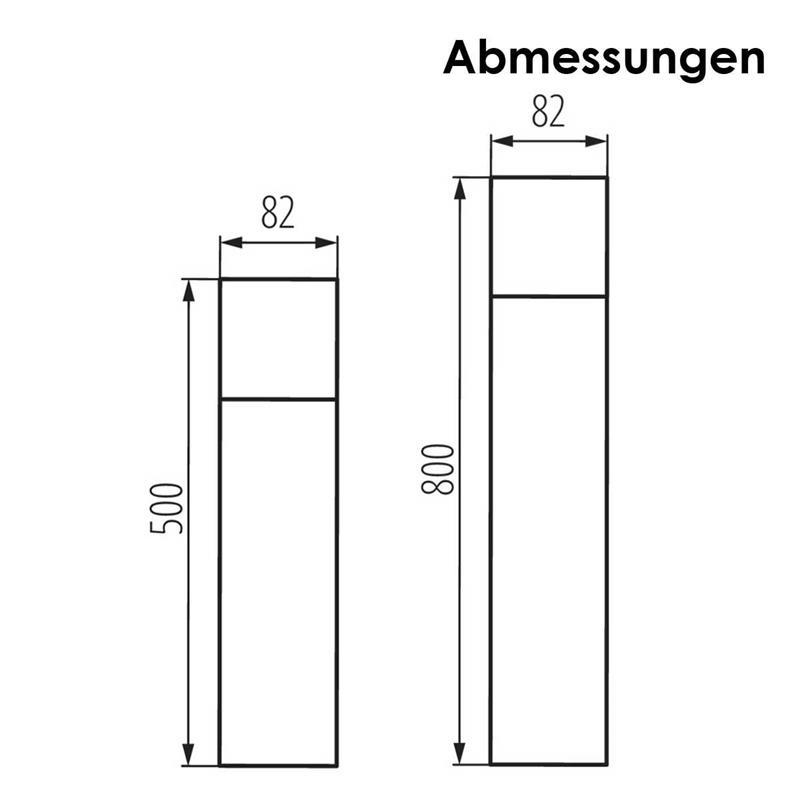 Außenleuchten VADRA   Wand-/ Standleuchte anthrazit   IP44