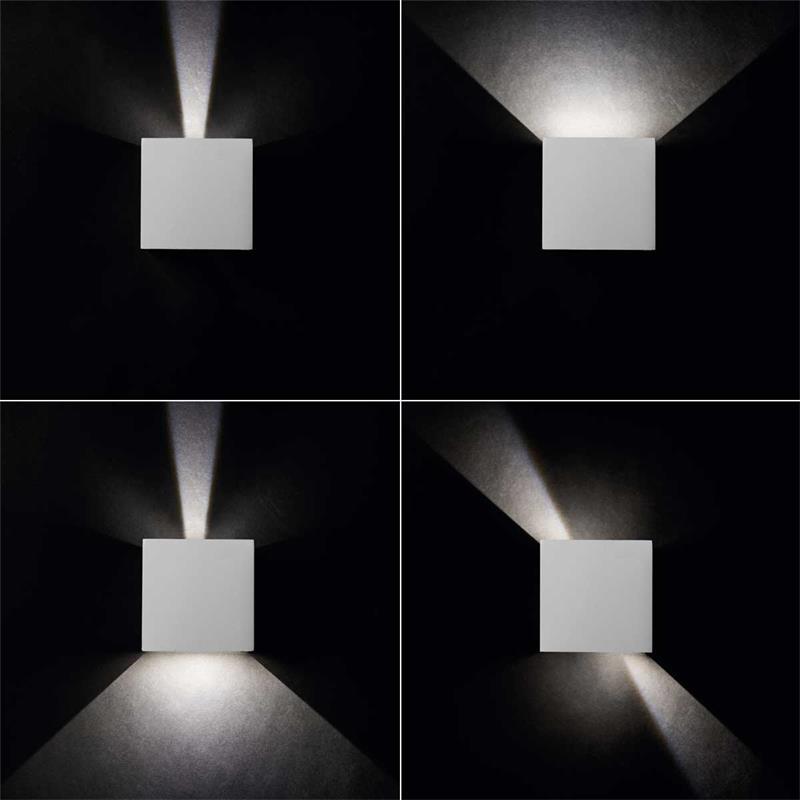 LED Außen-Wandleuchten REKA | rund/eckig, 2 Farben | IP54