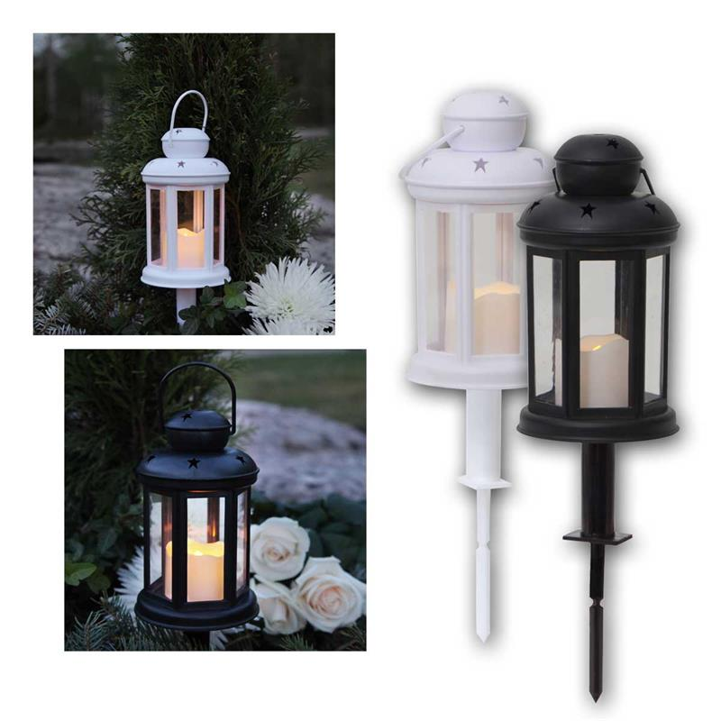 Plastic lantern SERENE | LED candle, battery & timer