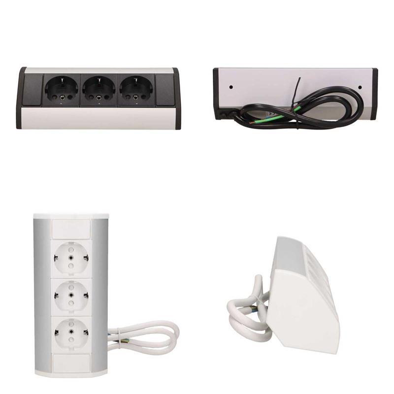 Surface-mounted sockets   Corner sockets   Power strips