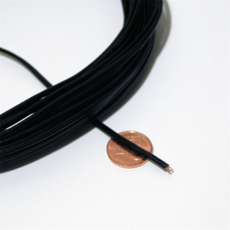 10m Zwillingslitze 0,14mm² Kupferlitze schwarz