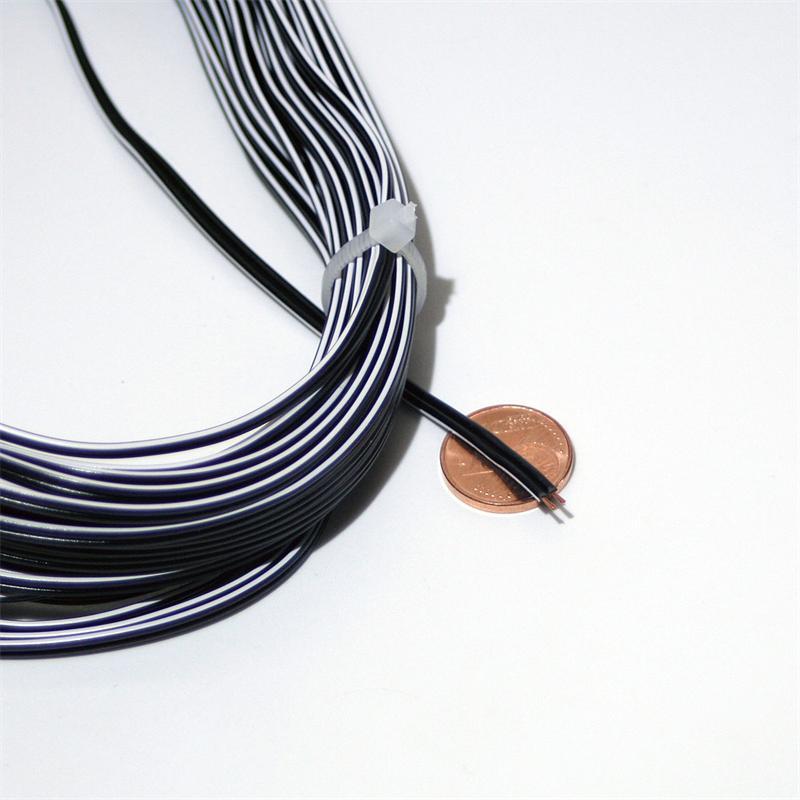 10m Zwillingslitze 0,14mm² Kupferlitze schwarzweiß