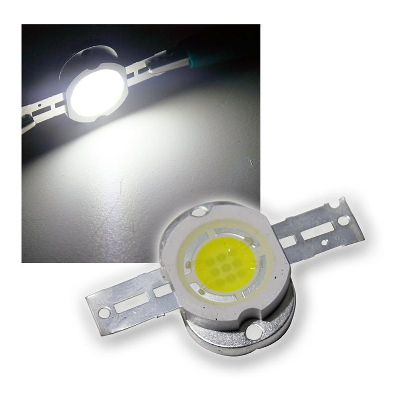 1 LED chip 10W high power pure white