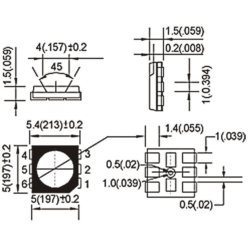 10 SMD LED 5050 kalt-weiß 3-Chip Highpower