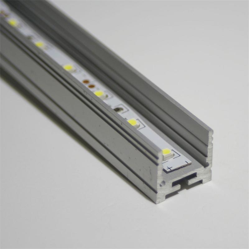 1m aluminium u profil flach f led stripes eloxiert. Black Bedroom Furniture Sets. Home Design Ideas