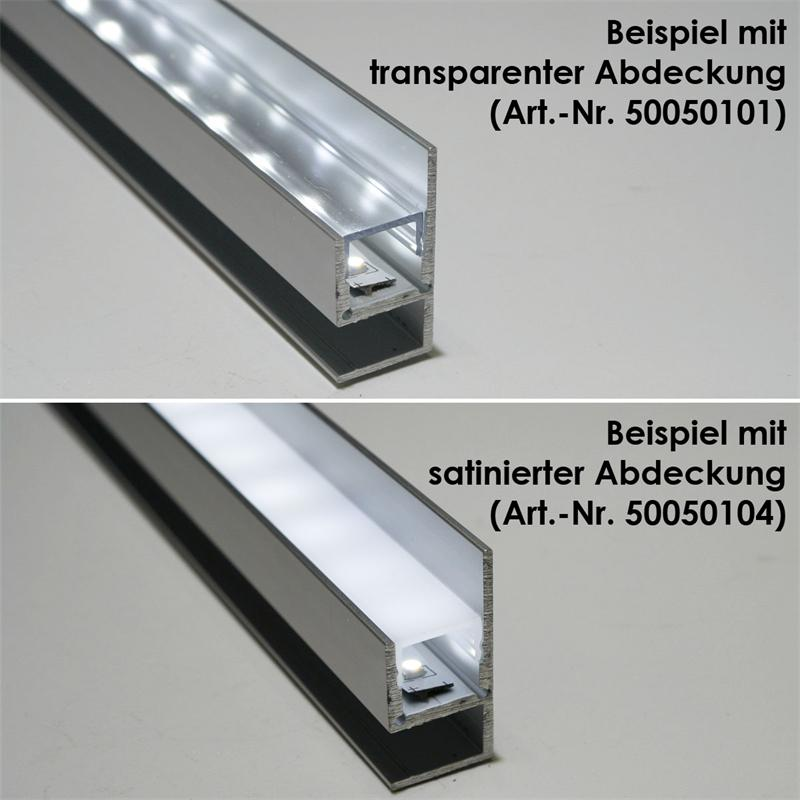 1m Aluminium Profil Blende Fü Led Stripes Eloxiert