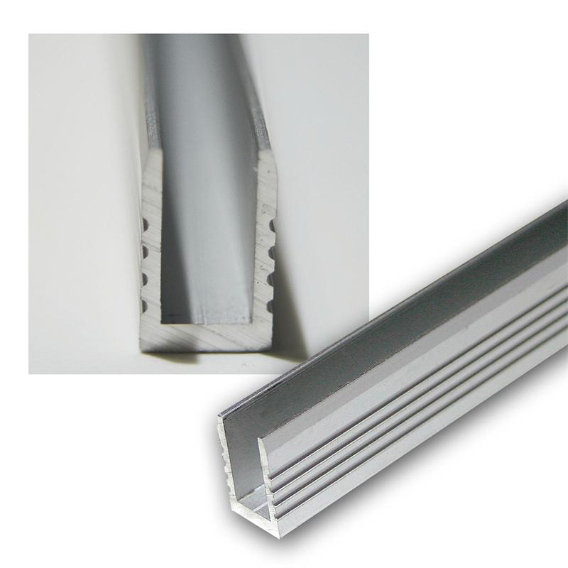 1m Aluminium-Wand-Glasbodenprofil für LED-Stripes