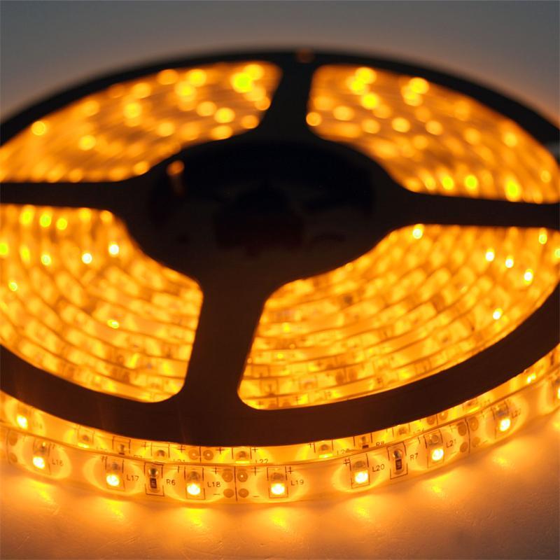 5m Flex SMD Stripe LED IP65 yellow 12V / PCB-weiß