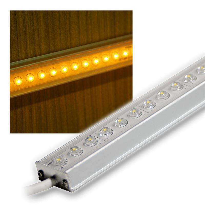 aluminium led lichtleiste gelb 50cm 12v dc design. Black Bedroom Furniture Sets. Home Design Ideas